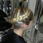 geflochtener Haarkranz