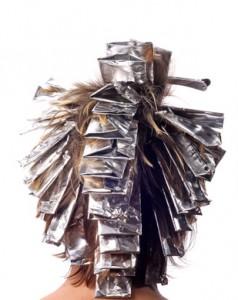 Kopf voller Alufolie - Strähnen