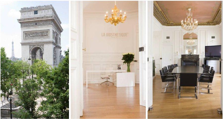 Luxuriöse Adresse: Vom LA BIOSTHETIQUE Headquarter in der Rue de Tilsitt in Paris ist der Blick traumhaft. Auch die Räume sind sehr repräsentativ.