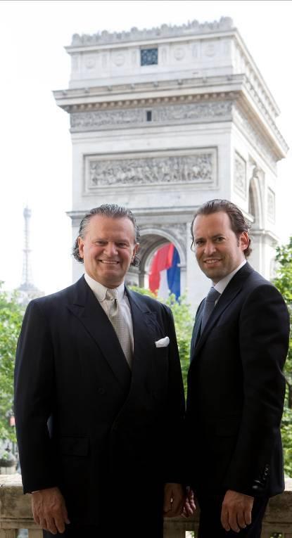 Familientradition: Siegfried Weiser, Präsident LA BIOSTHETIQUE INTERNATIONAL und sein Sohn Jean Marc (rechts).