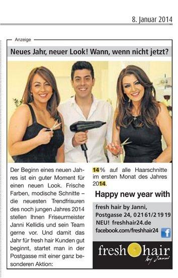 Unsere Anzeige zum Jahresbeginn im Stadtspiegel Mönchengladbach